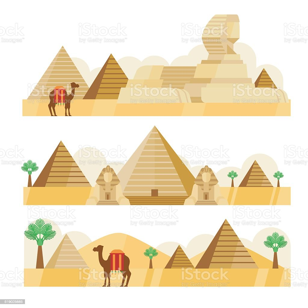 pyramid vector art illustration