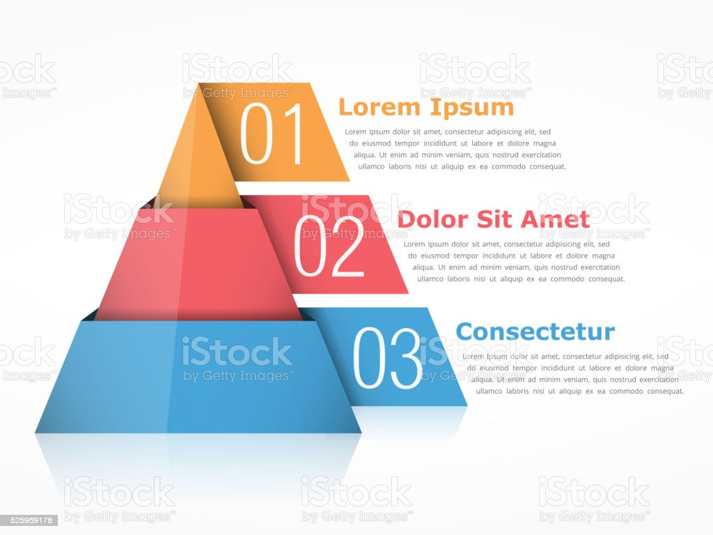 Pyramid vector art illustration