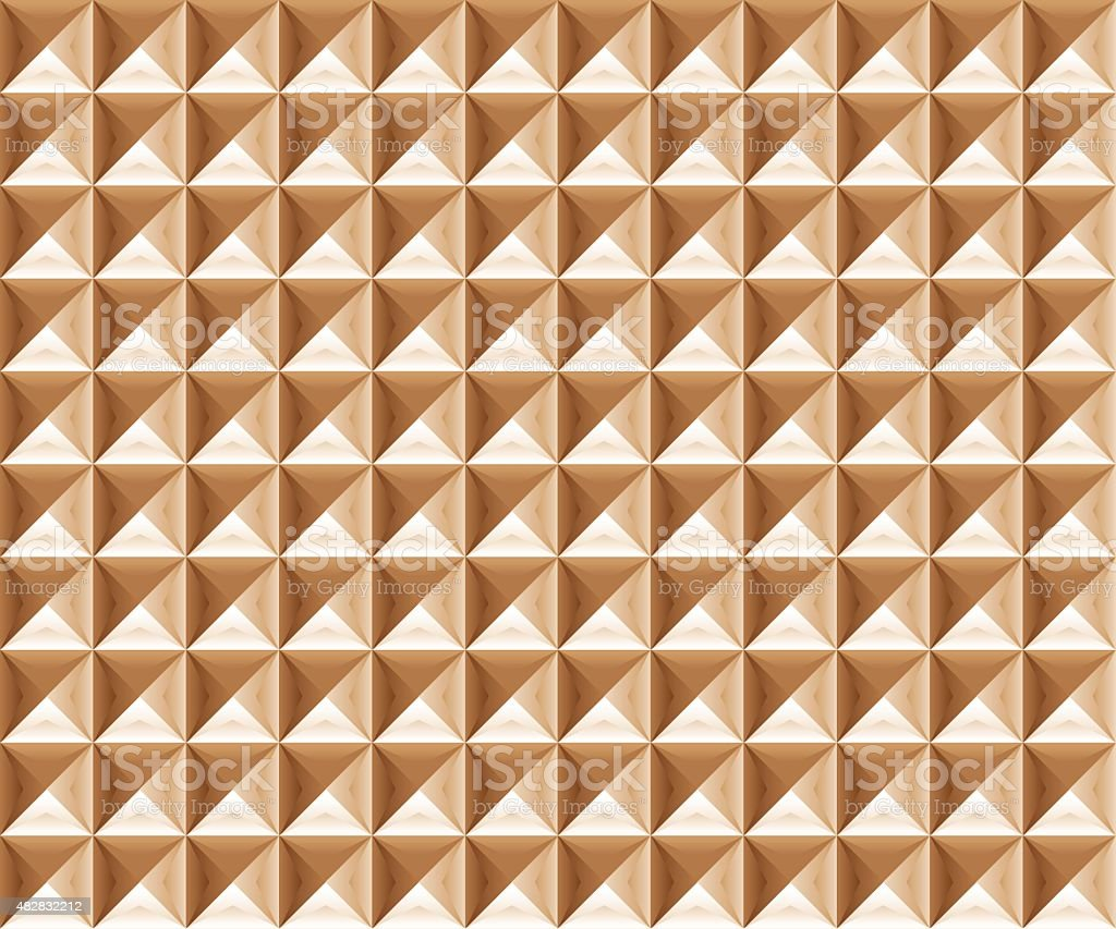 Pyramidal shape background vector art illustration