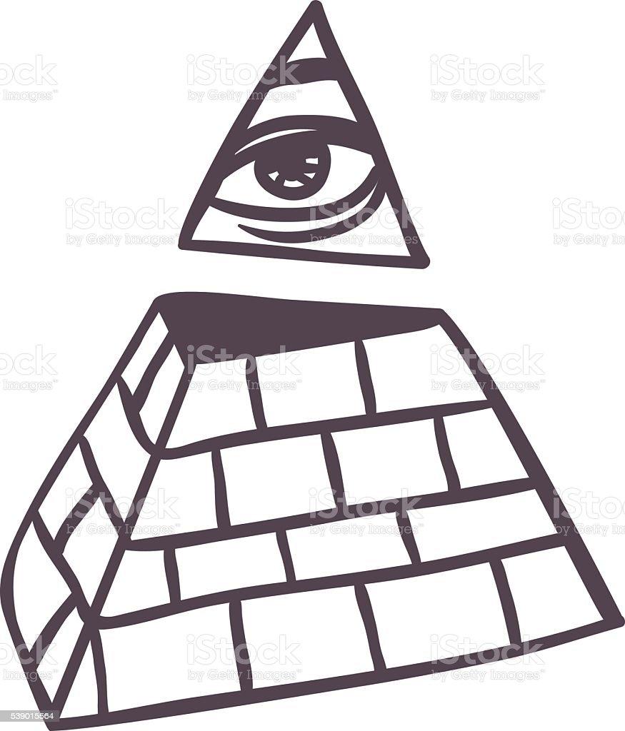 Pyramide vector illustration. vector art illustration