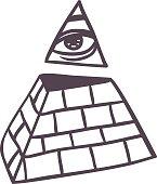 Pyramide vector illustration.