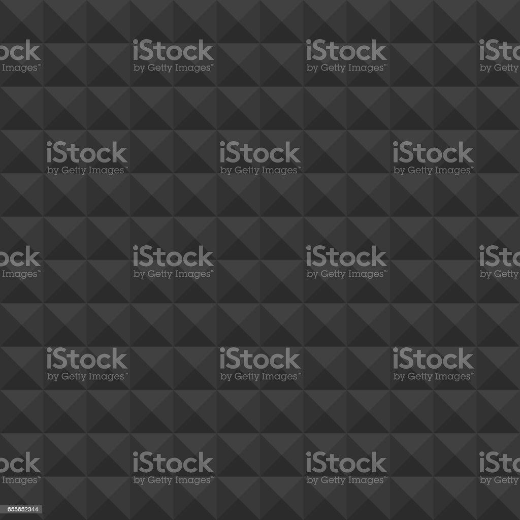 Pyramids black pattern. vector art illustration