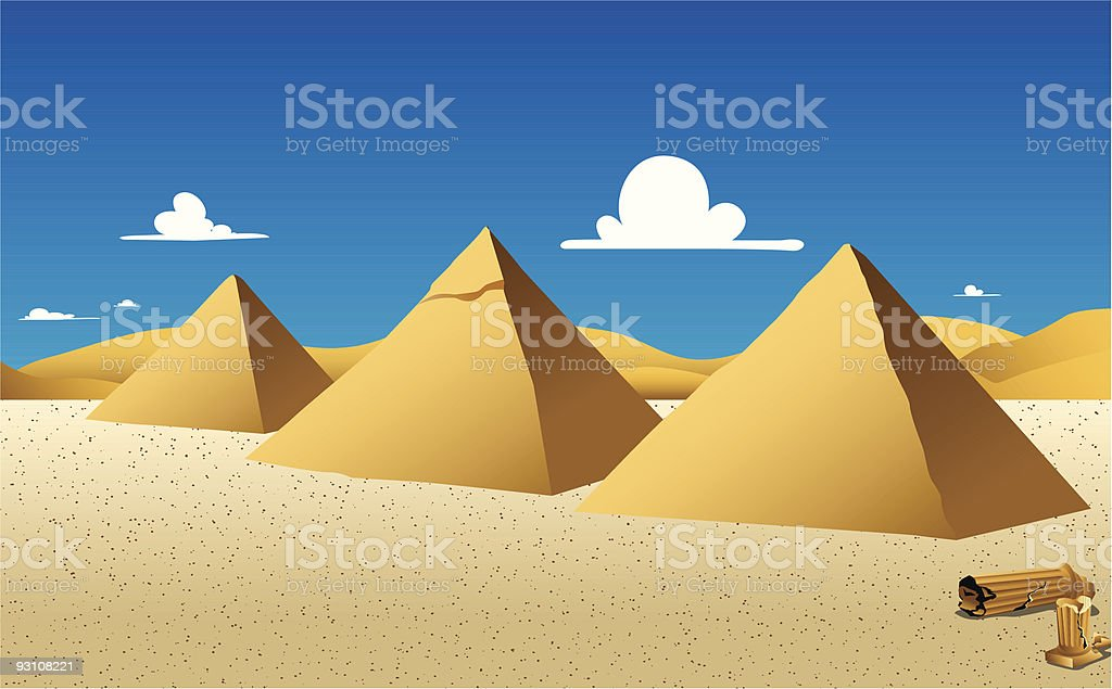 Pyramids in Egypt royalty-free stock vector art
