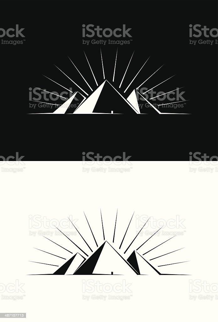 Pyramids of Giza vector art illustration