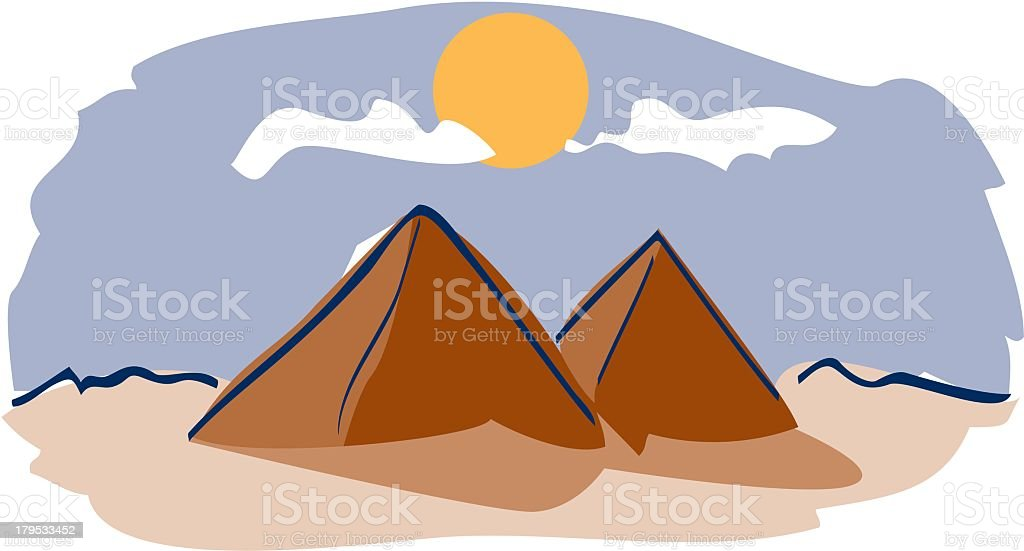 Pyramids royalty-free stock vector art