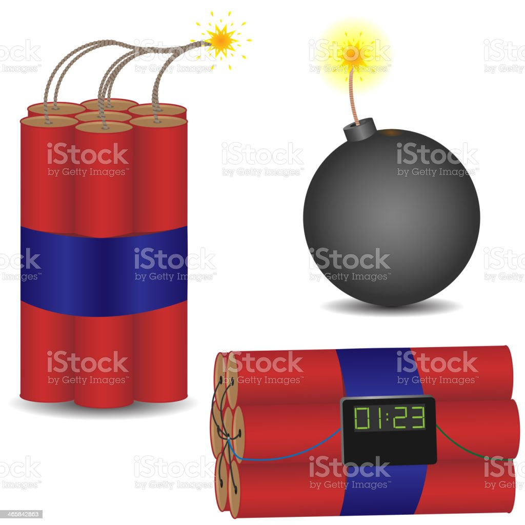 pyrotechnic set royalty-free stock vector art