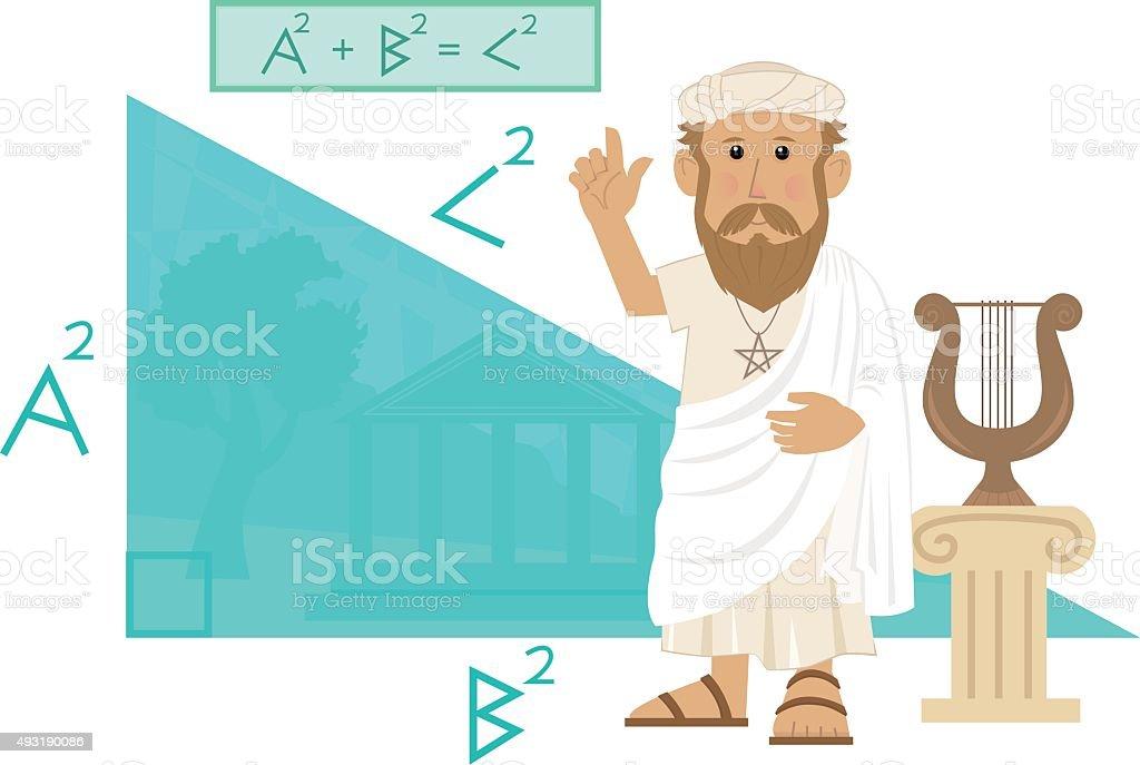 Pythagoras vector art illustration