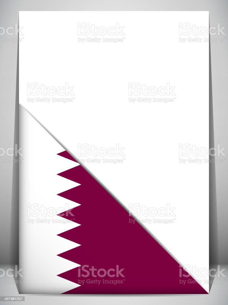 Qatar Country Flag Turning Page vector art illustration