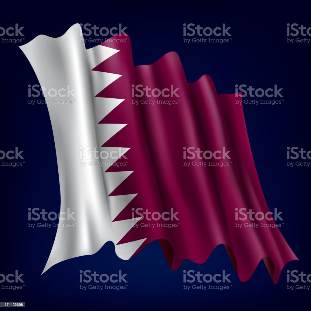 Qatar, Qatari Flag royalty-free stock vector art