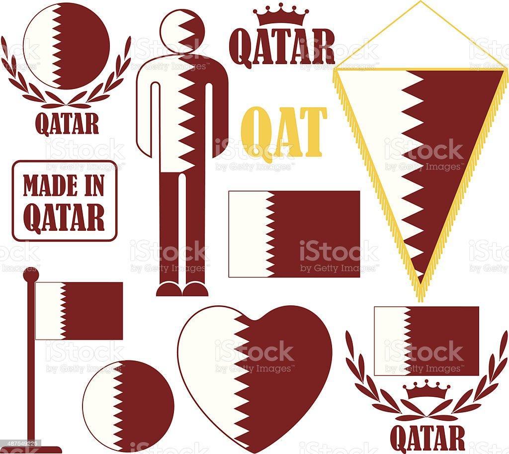 Qatar royalty-free stock vector art