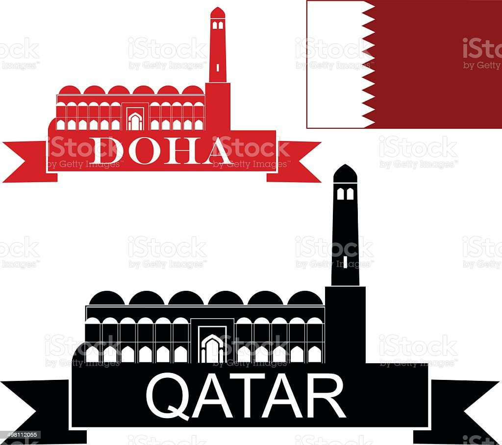 Qatar royalty-free stock vector art