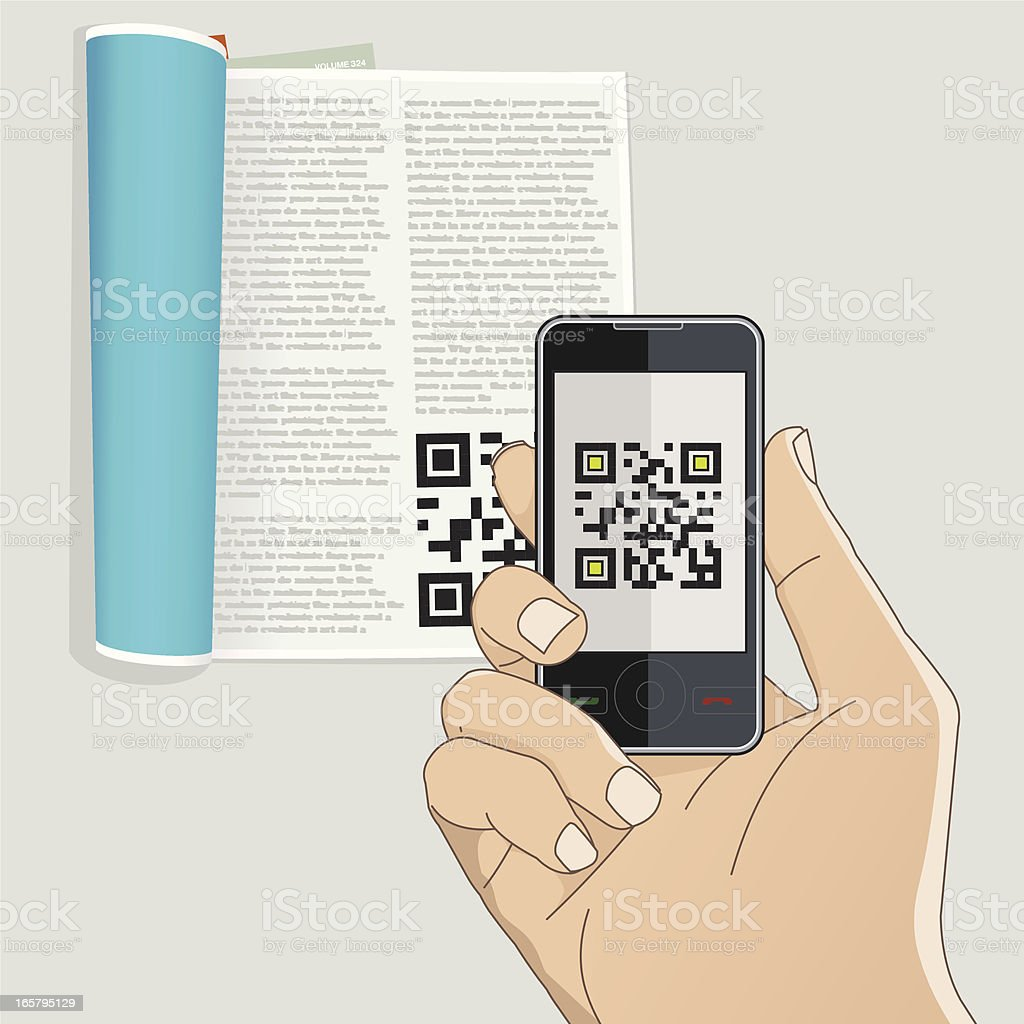 qr code royalty-free stock vector art