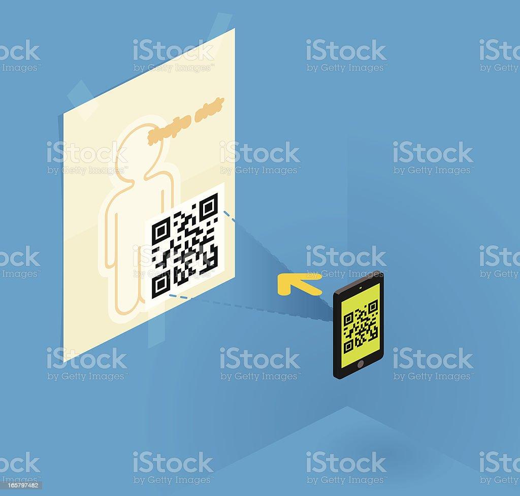 qr code royalty-free stock vector art