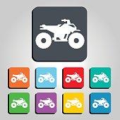 ATV Quad Vector Icon Illustration