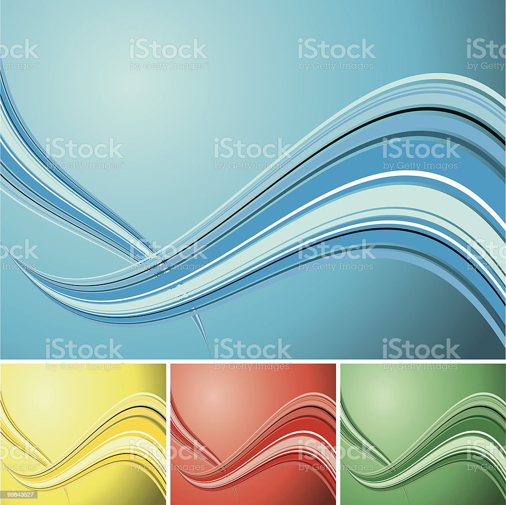 quad wave background royalty-free stock vector art