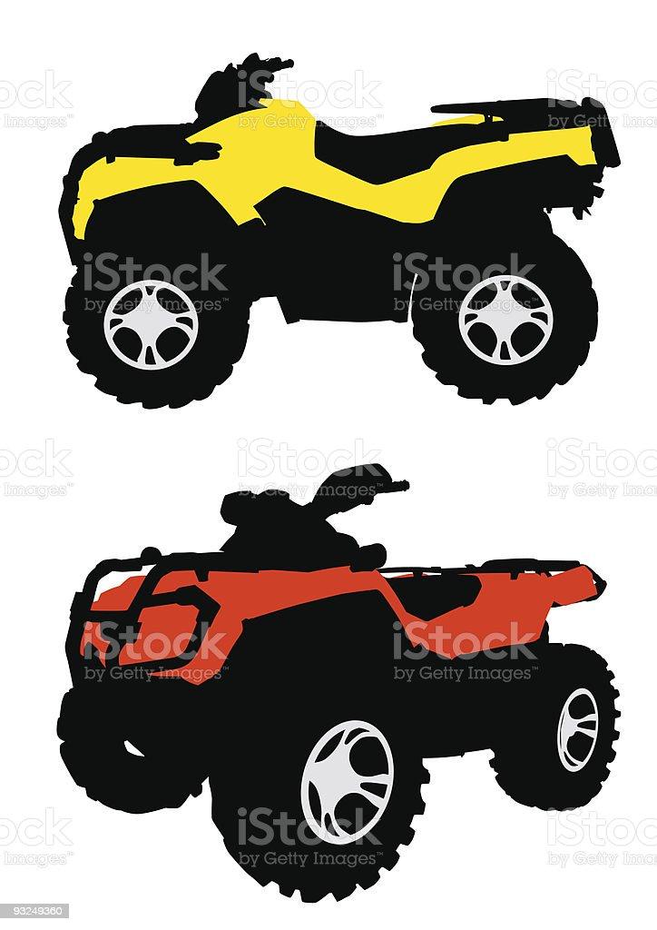 Quadbike vector art illustration
