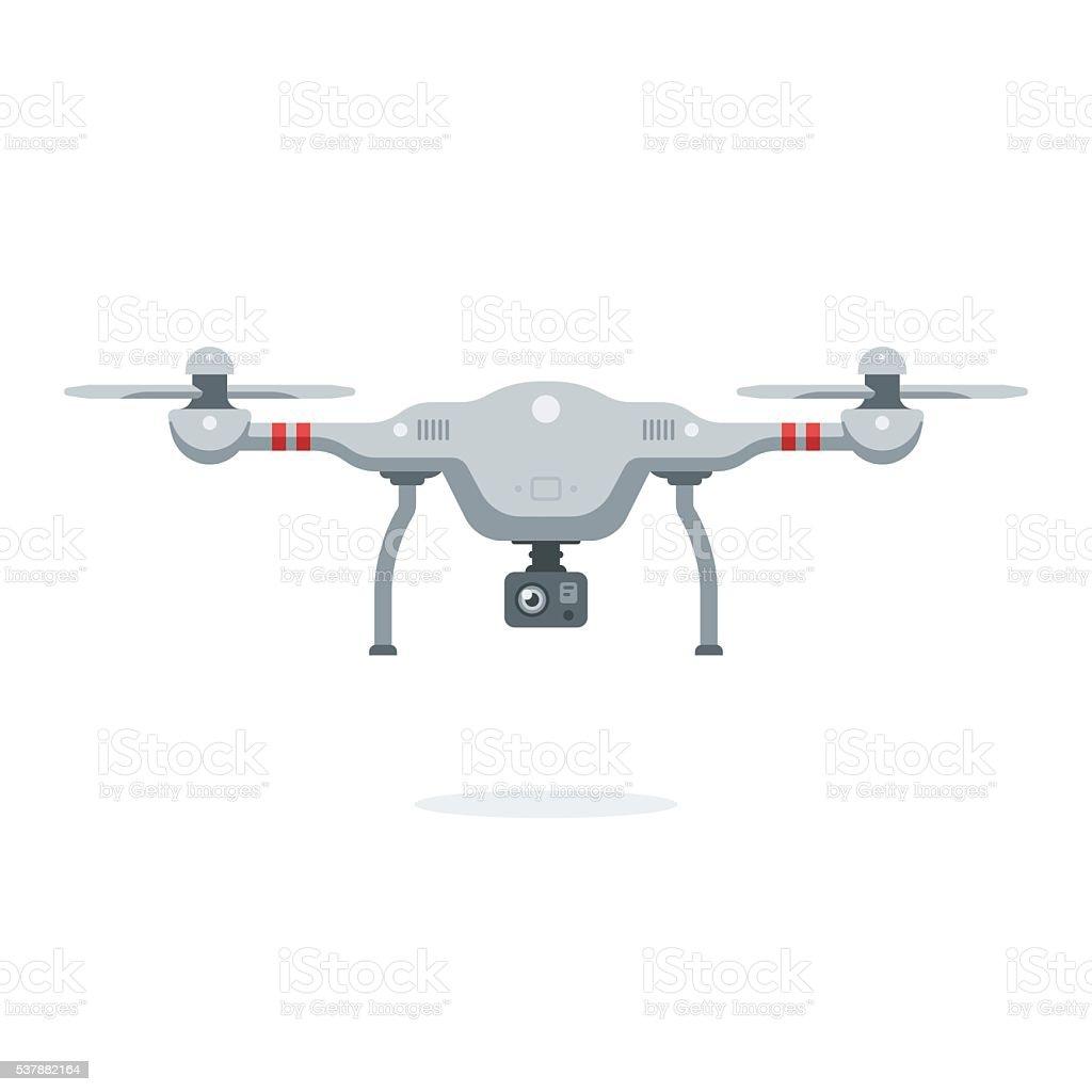 Quadcopter vector art illustration