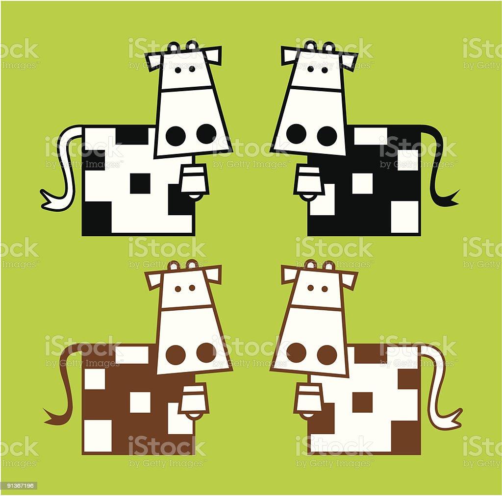 quadrate de vache stock vecteur libres de droits libre de droits
