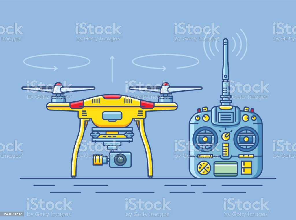 quadrocopter vector art illustration