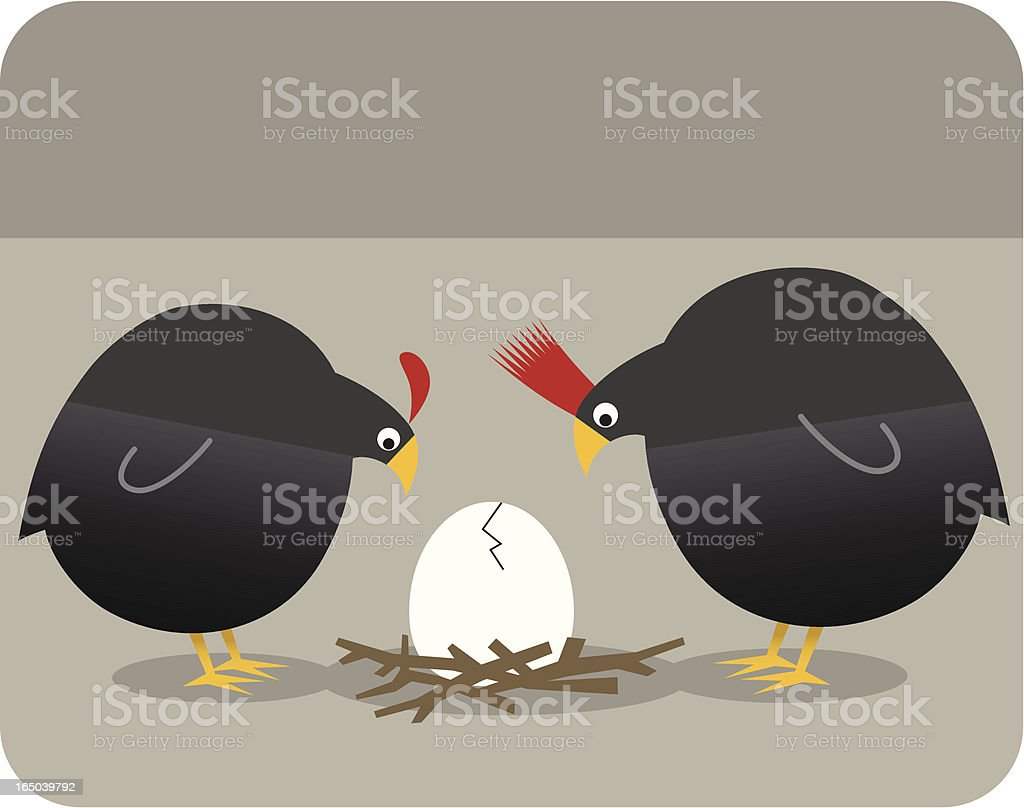 Quail Egg Cracks royalty-free stock vector art
