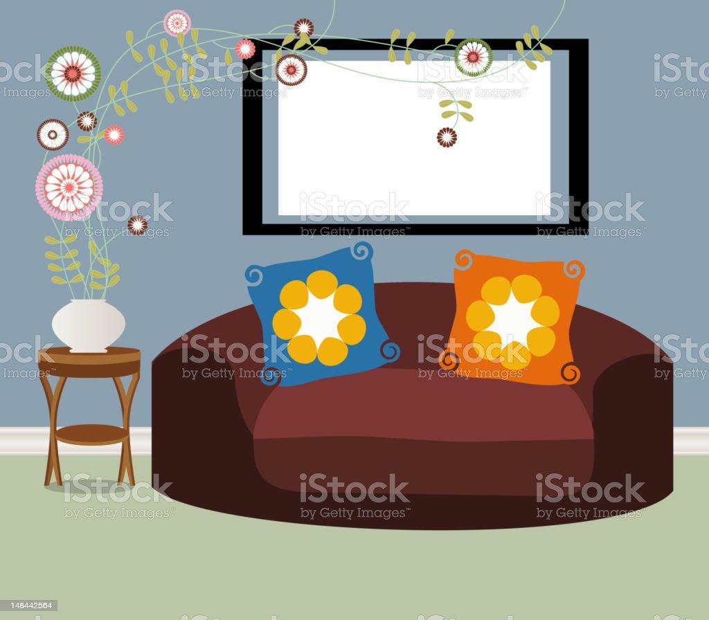 Quaint Living Room royalty-free stock vector art