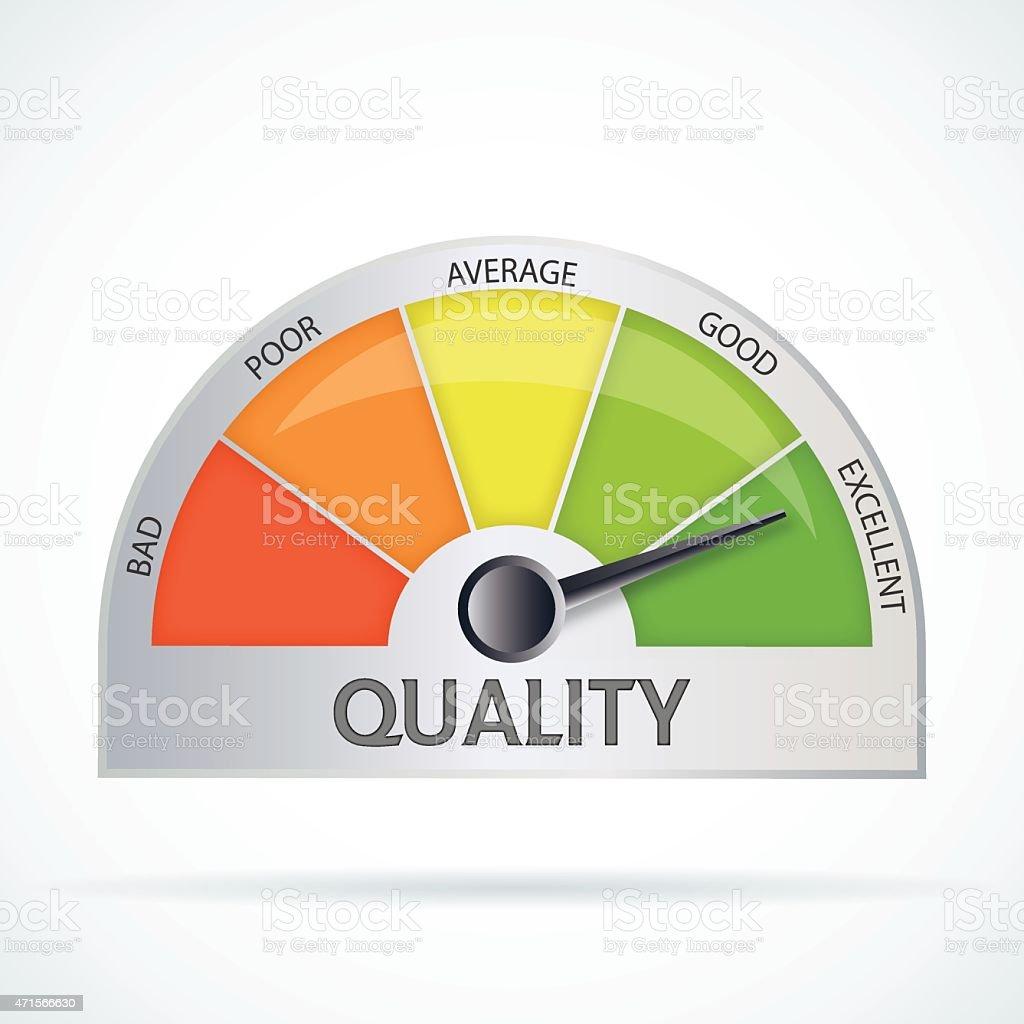 Quality chart vector art illustration
