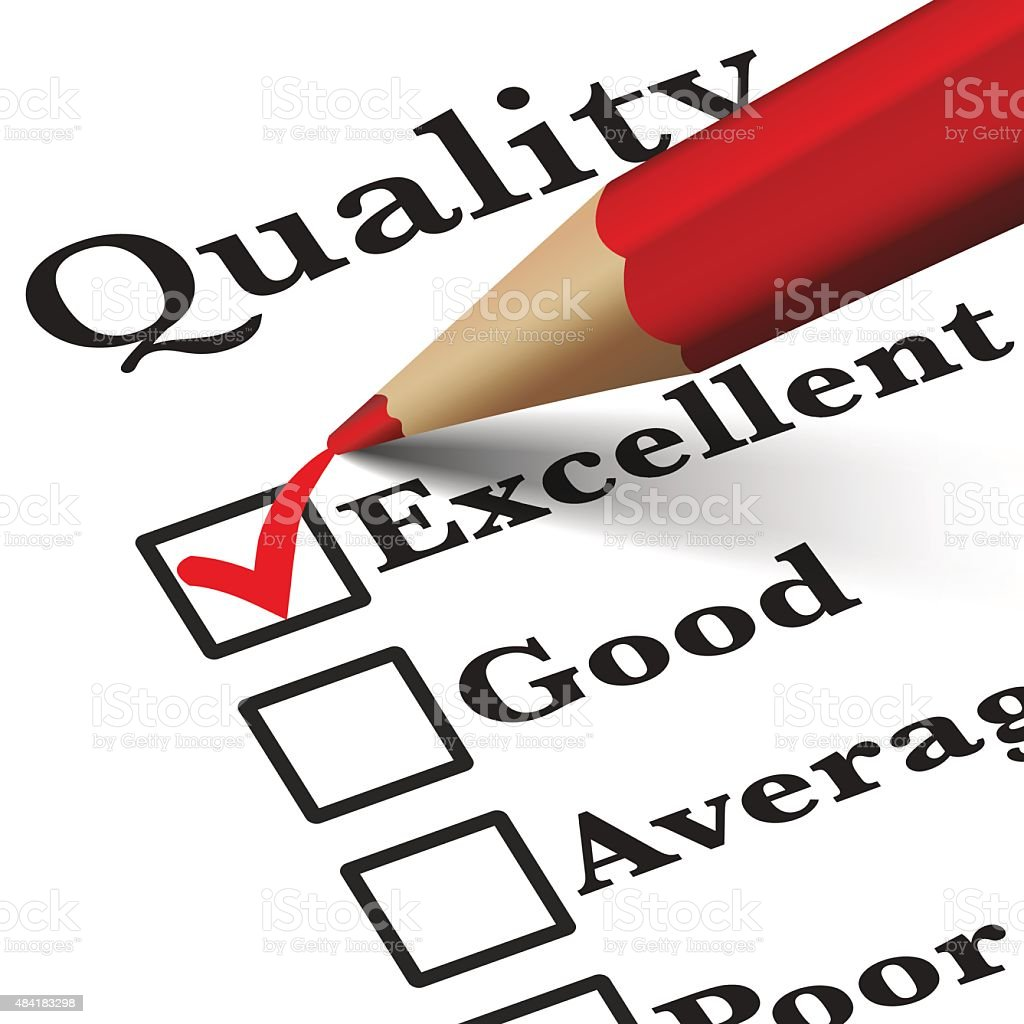 Quality Control Survey Checklist vector art illustration