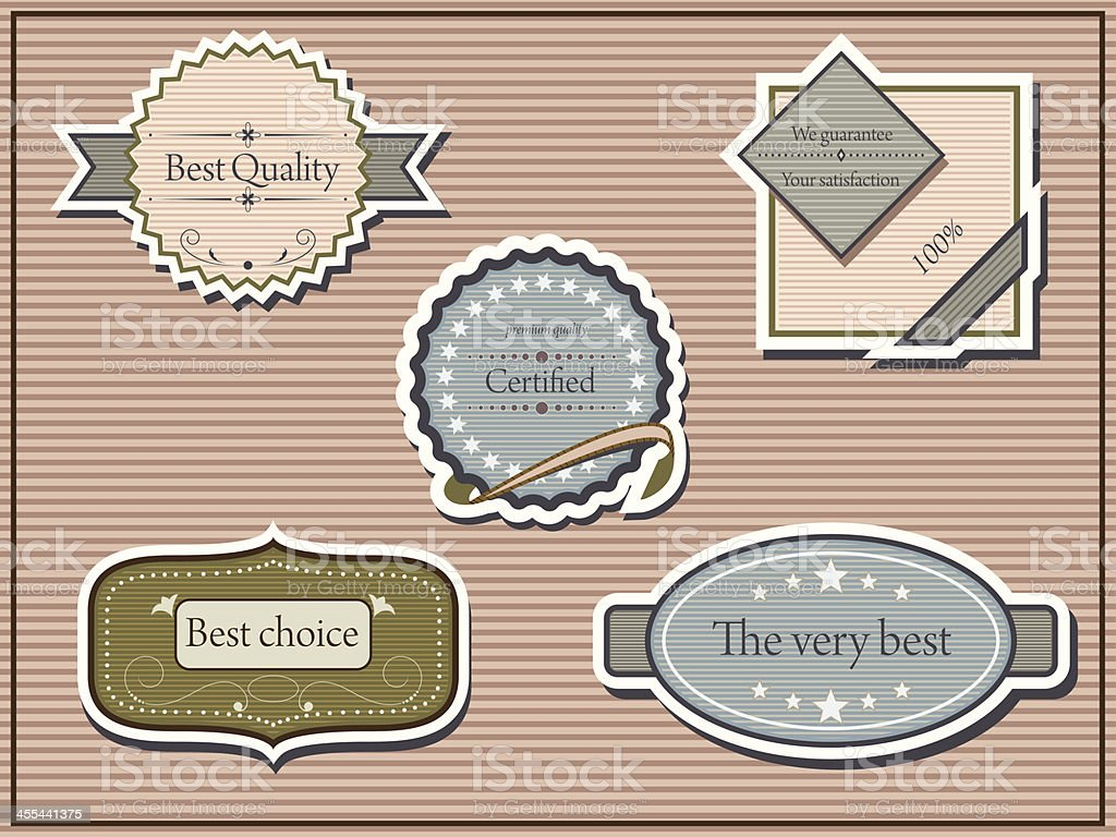 Quality labels royalty-free stock vector art