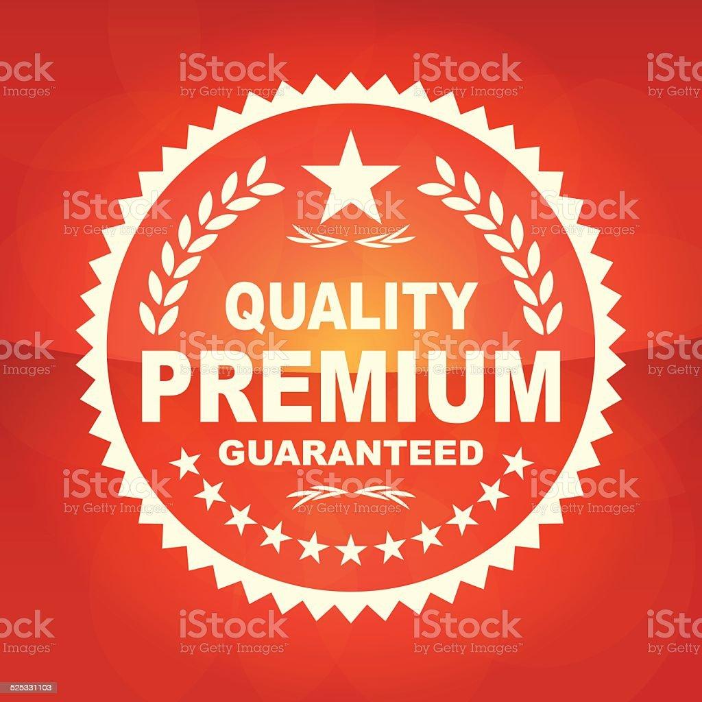 Quality Premium Emblem vector art illustration