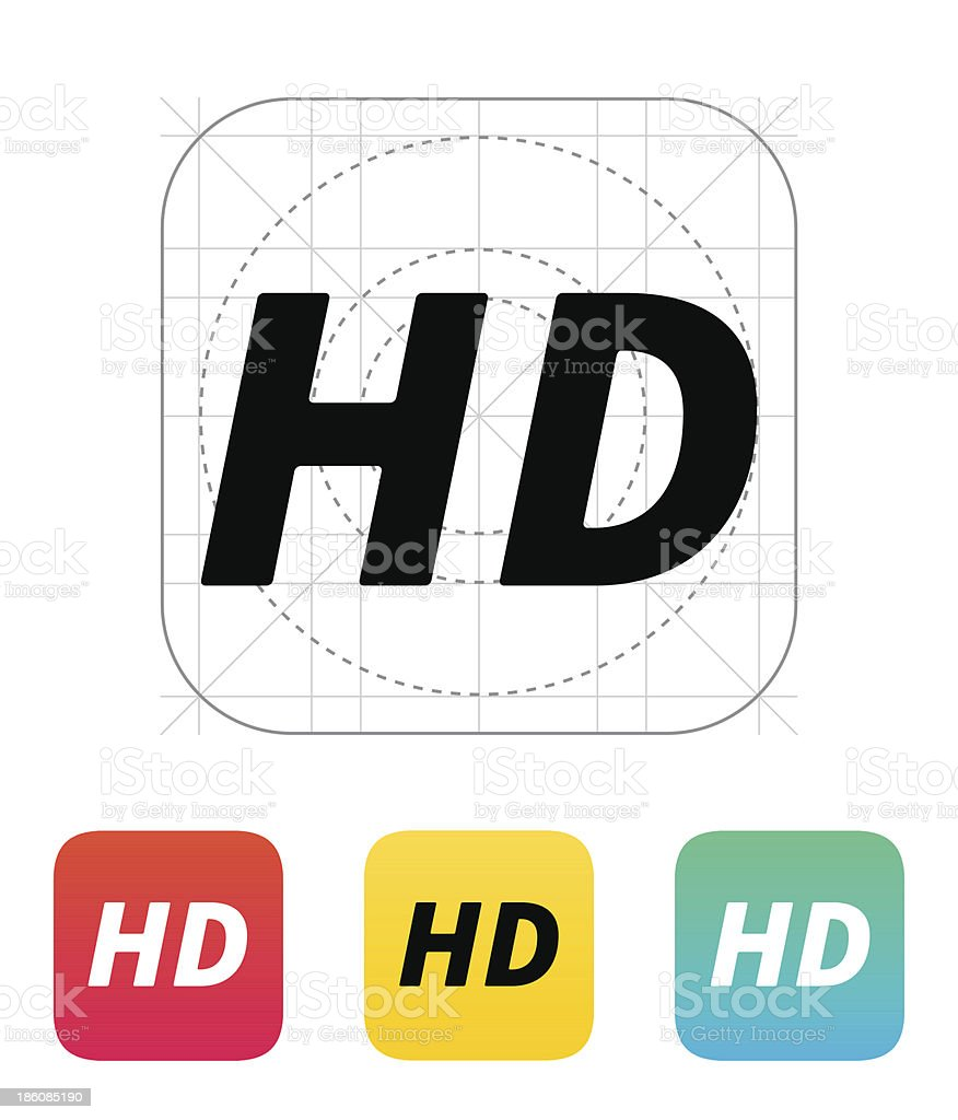 HD quality video icon. royalty-free stock vector art