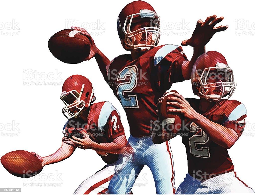Quarterback. American Football royalty-free stock vector art