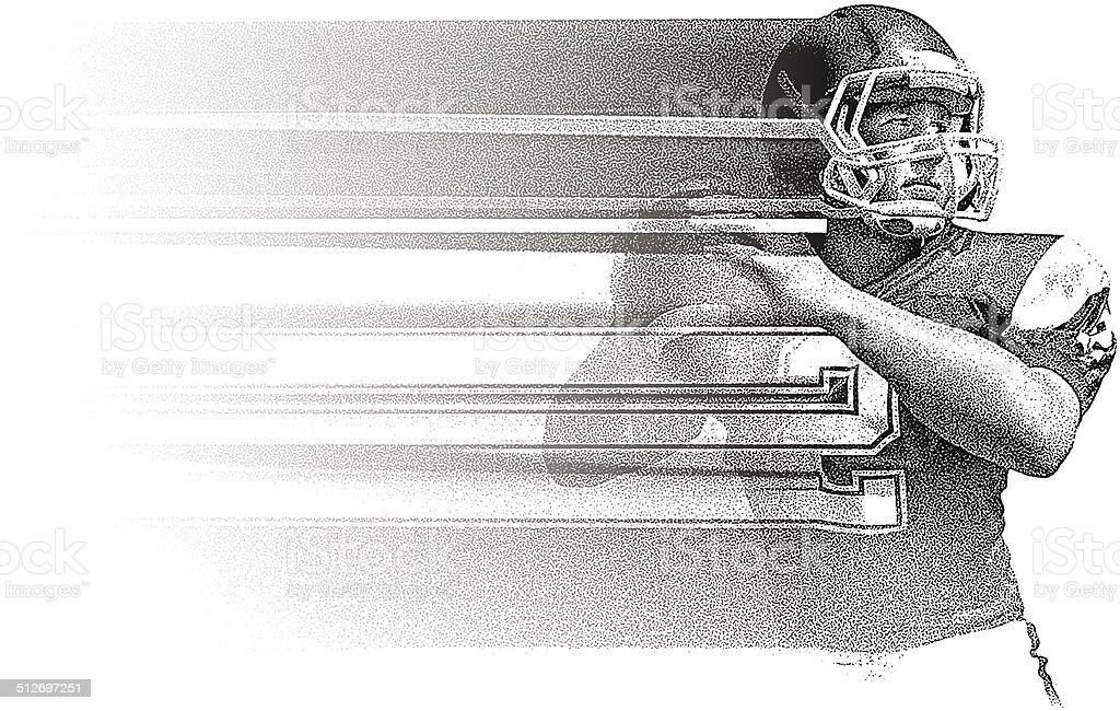 Quarterback Fade vector art illustration