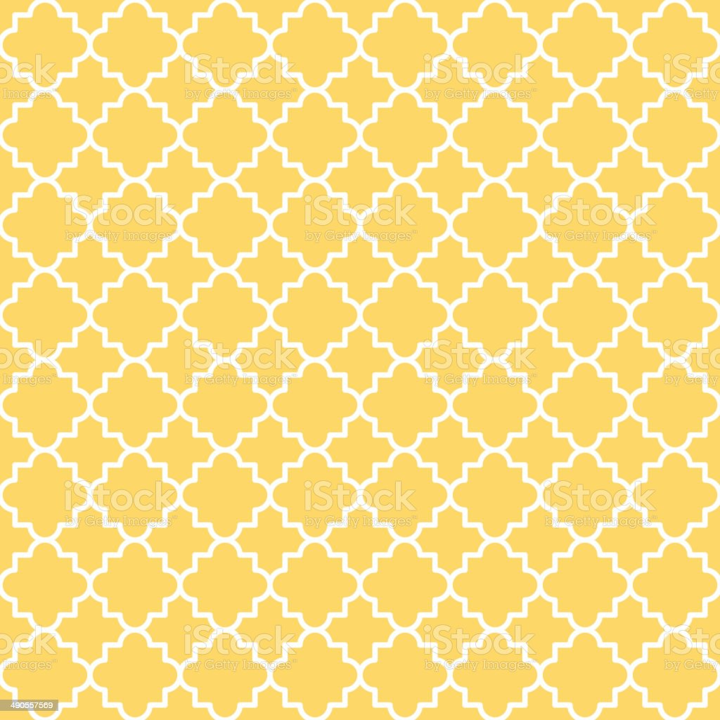 Quatrefoil Lattice Pattern vector art illustration