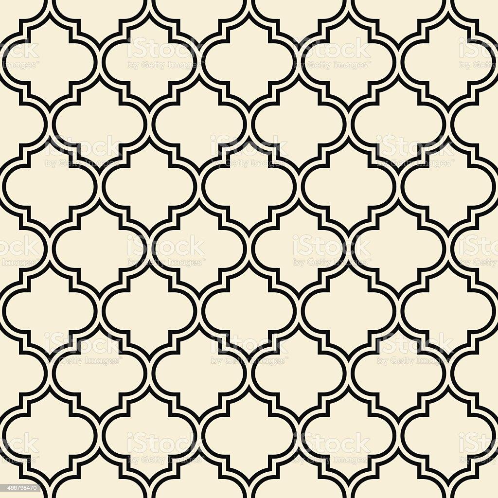 quatrefoil pattern, decorative framework vector art illustration