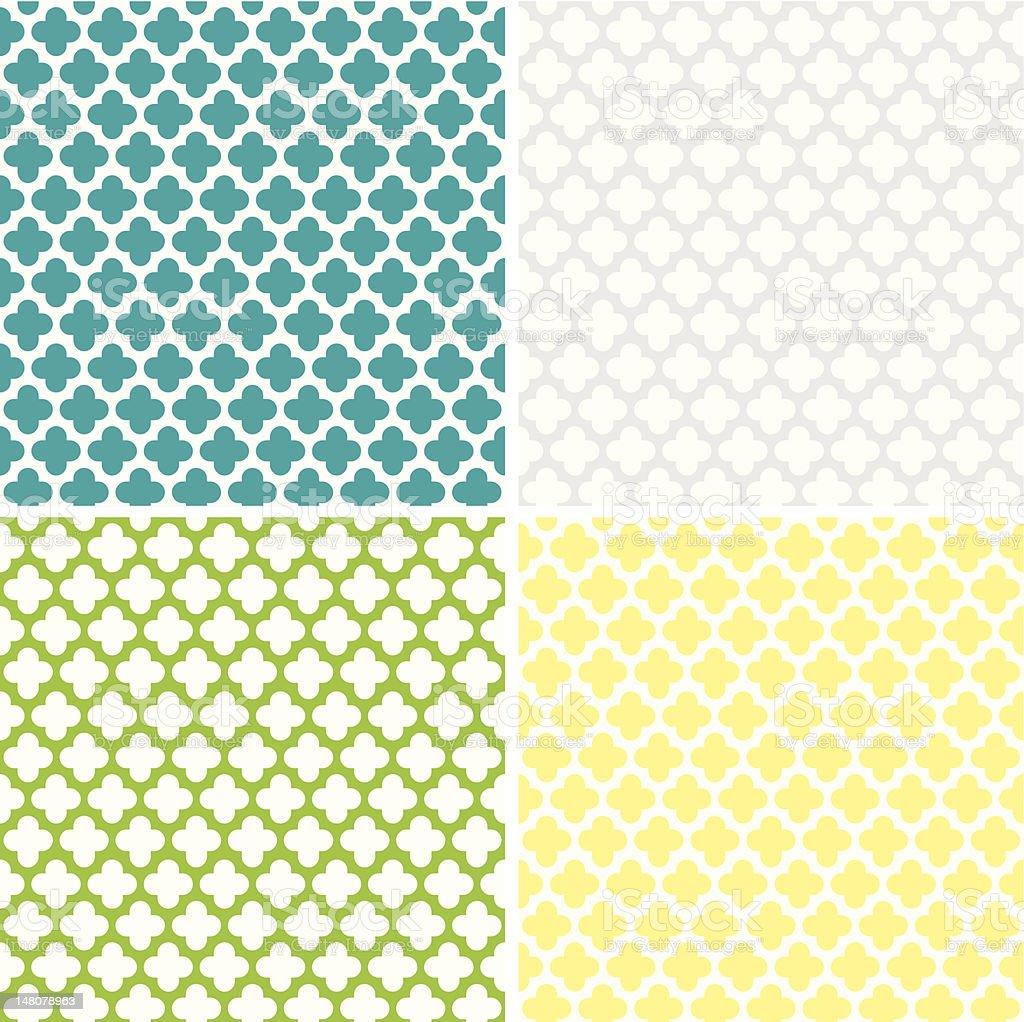 Quatrefoil Pattern vector art illustration