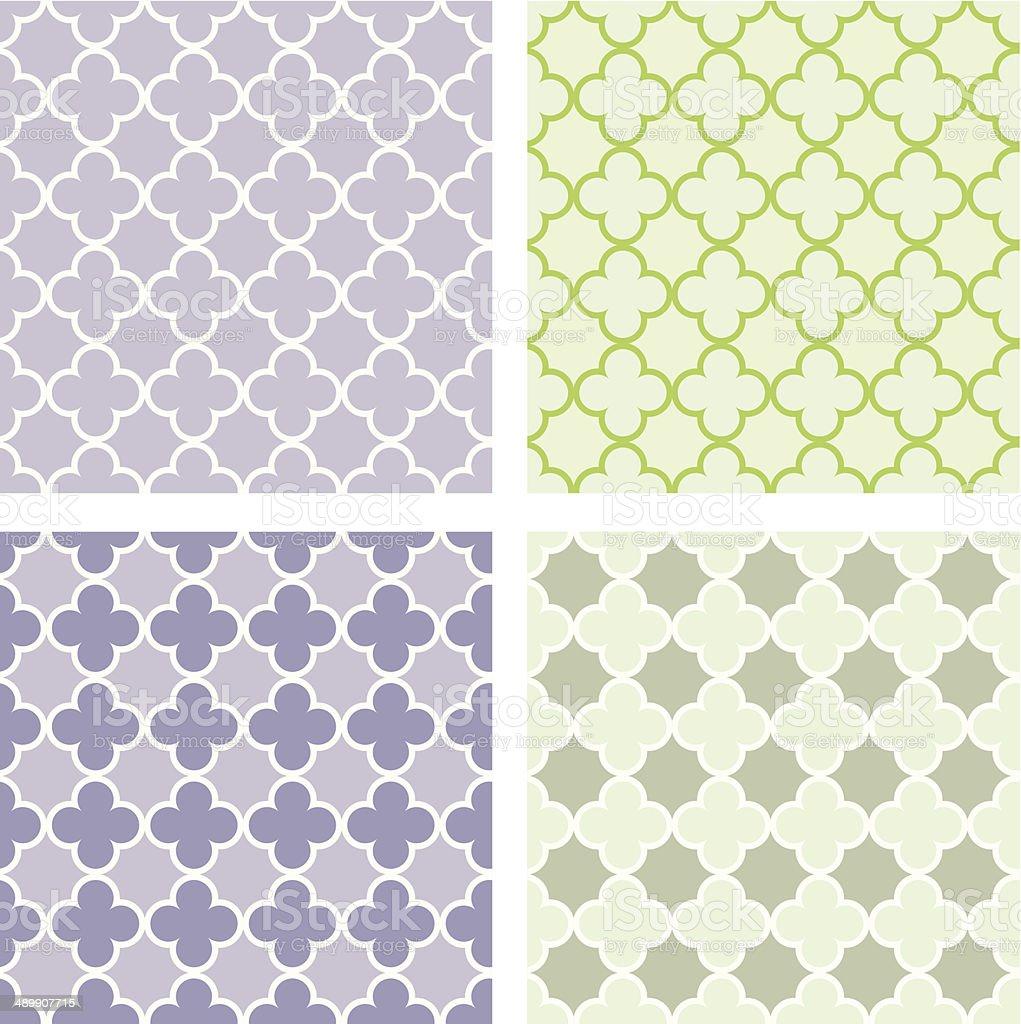 Quatrefoil seamless pattern vector art illustration