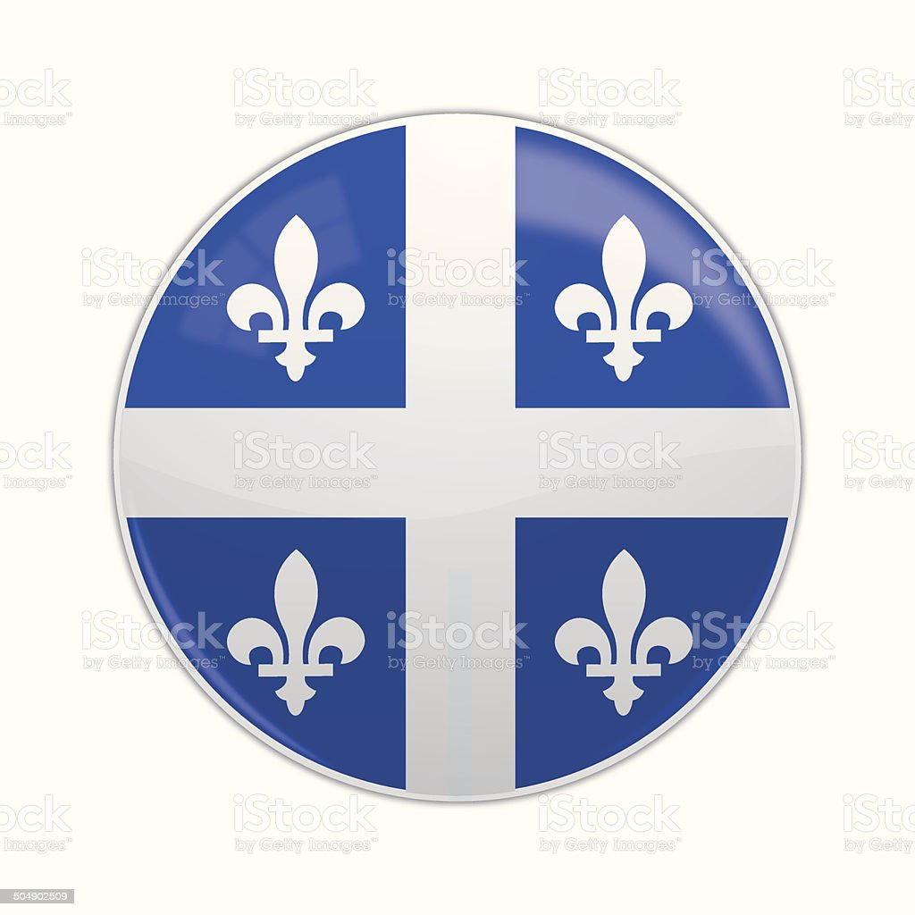 Quebec lapel royalty-free stock vector art