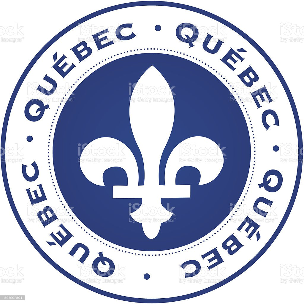 Quebec stamp royalty-free stock vector art