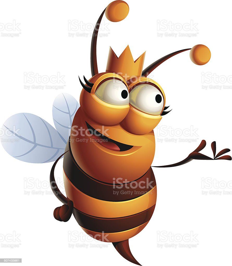 Queen Bee: Presenting vector art illustration