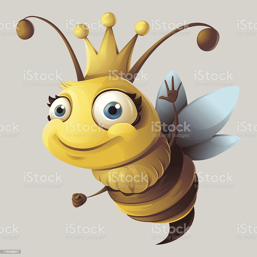 Queen Bee vector art illustration