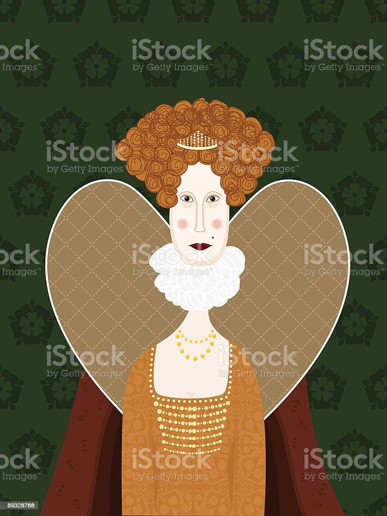 Queen Elizabeth 1 royalty-free stock vector art