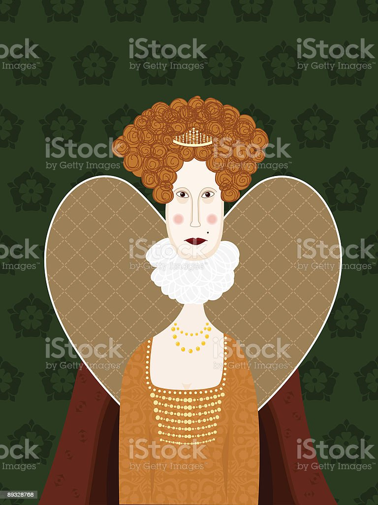 Queen Elizabeth 1 vector art illustration