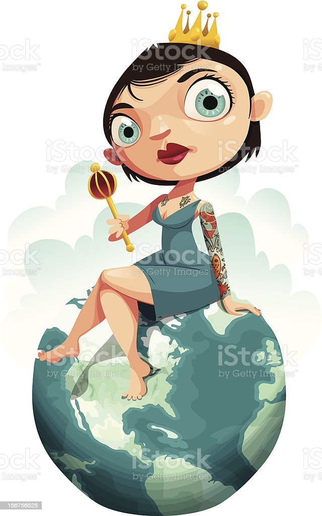 Queen of the World royalty-free stock vector art