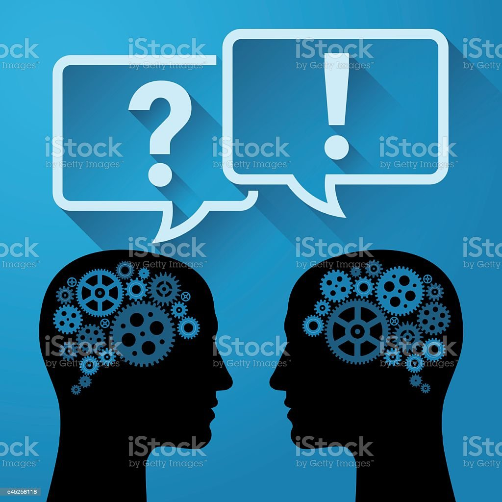 Question and Answer - Communication concept vector art illustration