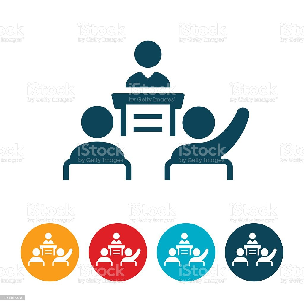 Question and Answer Icon vector art illustration