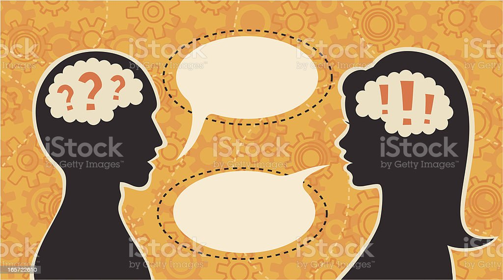 Question and answer vector art illustration