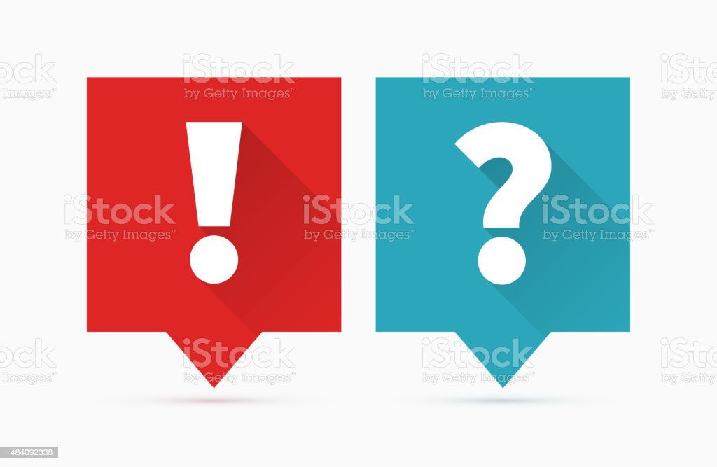 Question and answers vector art illustration