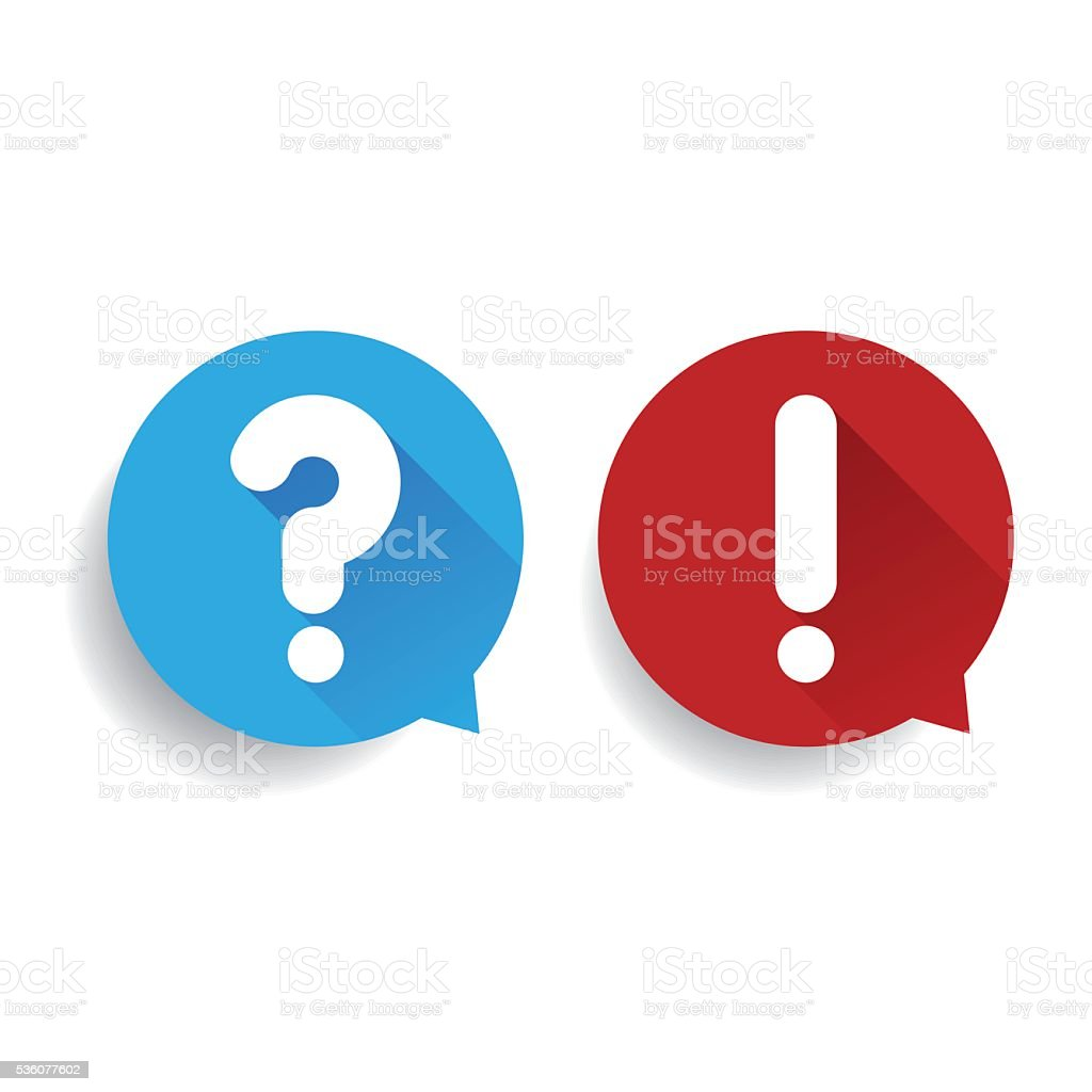 Question and exclamation mark vector vector art illustration