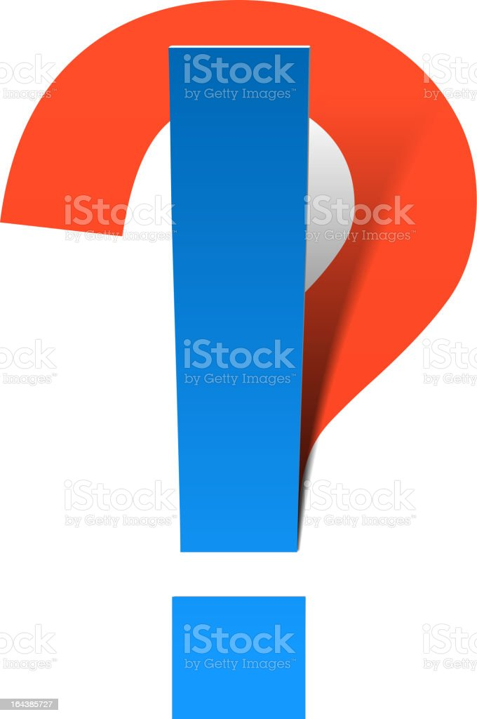 Question and Exclamation marks royalty-free stock vector art