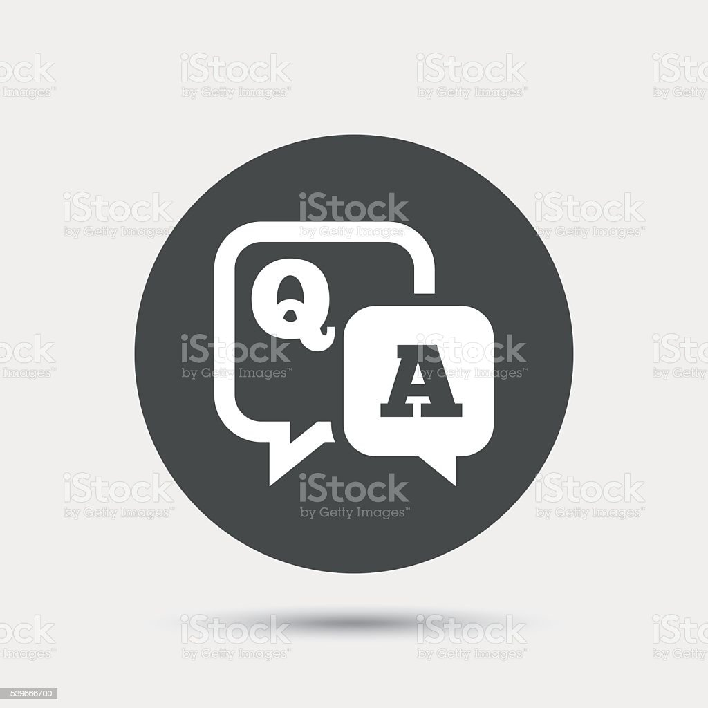 Question answer sign icon. Q&A symbol. vector art illustration